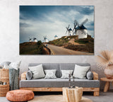Landscape with Windmills in Consuegra Spain