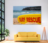 Surf Rescue Board on Australian Sandy Beach