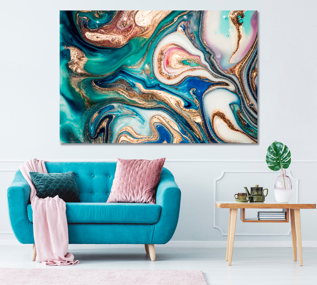 Luxury Wavy Marble Abstraction