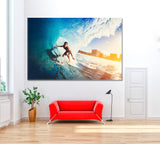 Surfer on Ocean Wave
