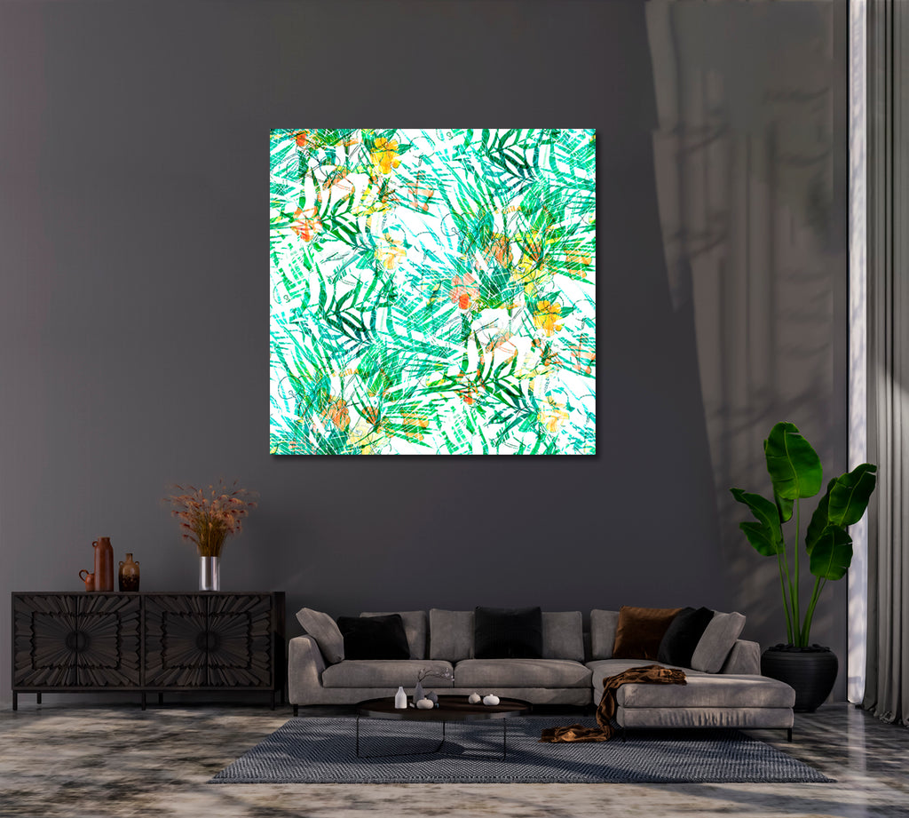 Abstract Tropical Palm Leaves