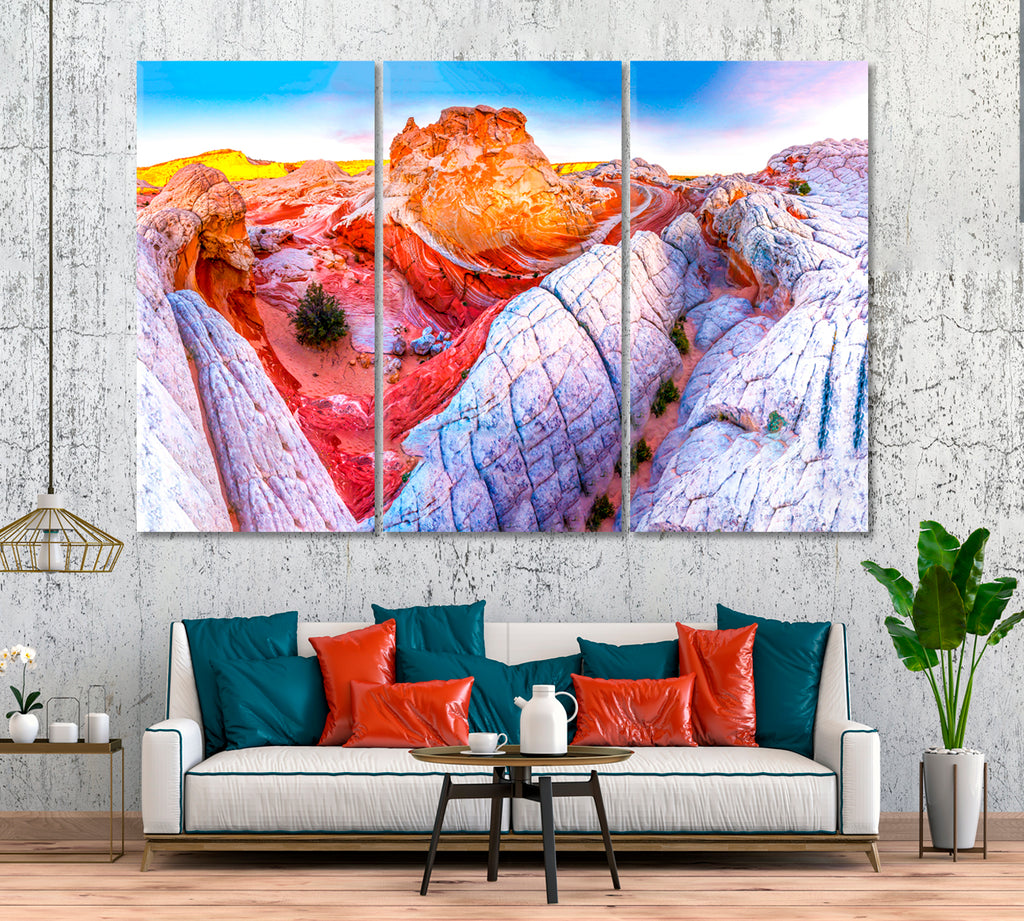 Red Rock Mountain Canyon Landscape