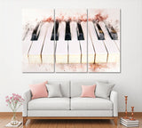 Abstract Watercolor Piano Keyboard