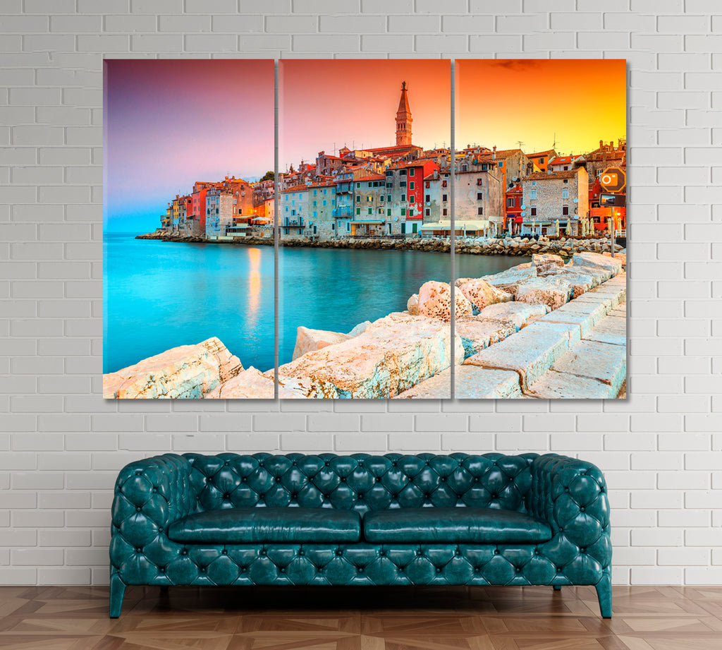 Beautiful Colorful Sunset Rovinj Croatia