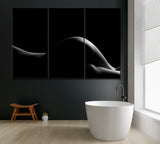 Silhouette of Nude Woman in Black and White