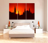 Silhouette of Moscow Kremlin at Sunset