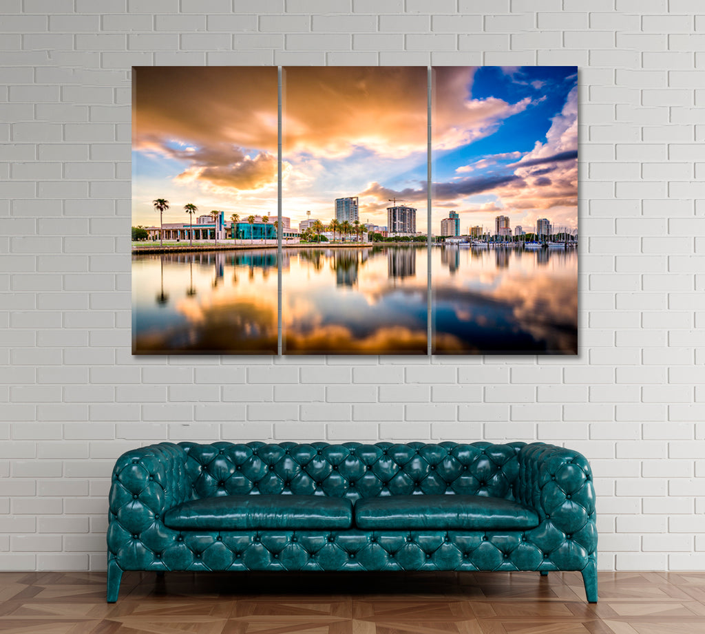 City Skyline St. Petersburg Florida on the Bay