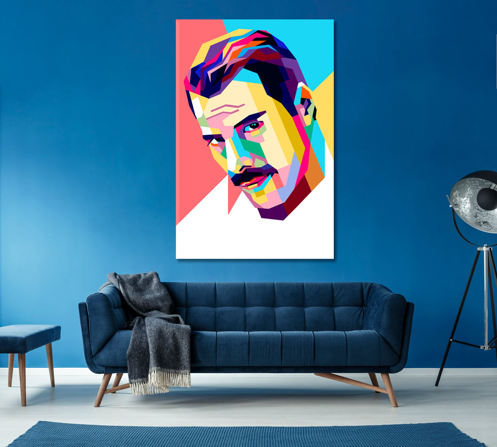 Freddie Mercury Vector Portrait