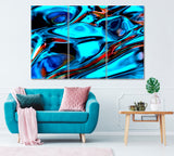 Abstract Blue Wavy Liquid Pattern