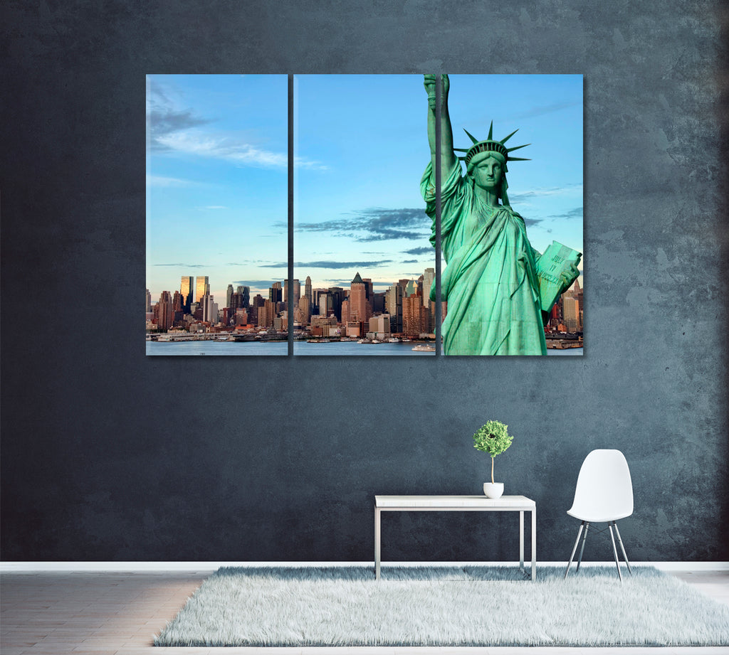 Statue of Liberty with New York City Skyline