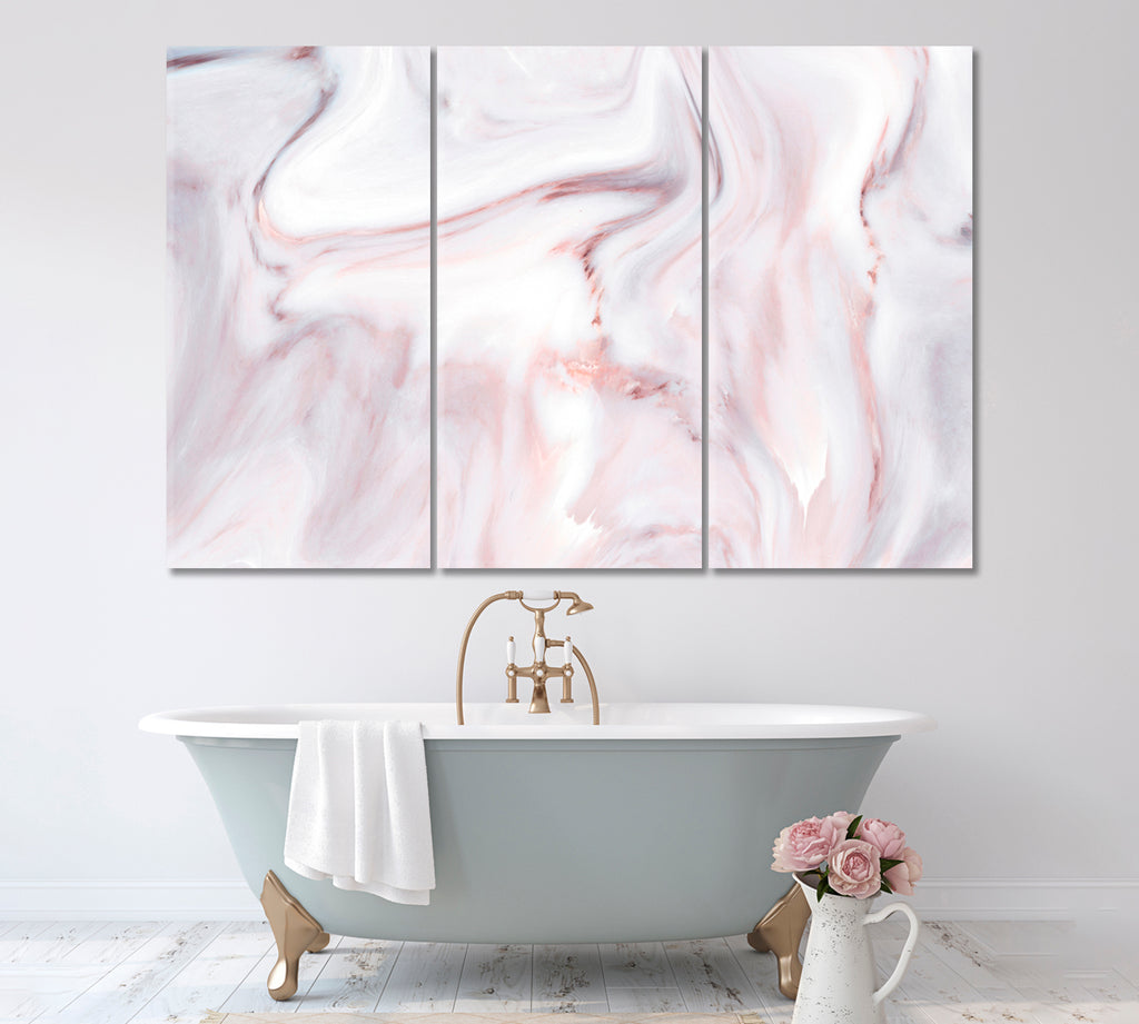 Abstract Pink Marble Pattern