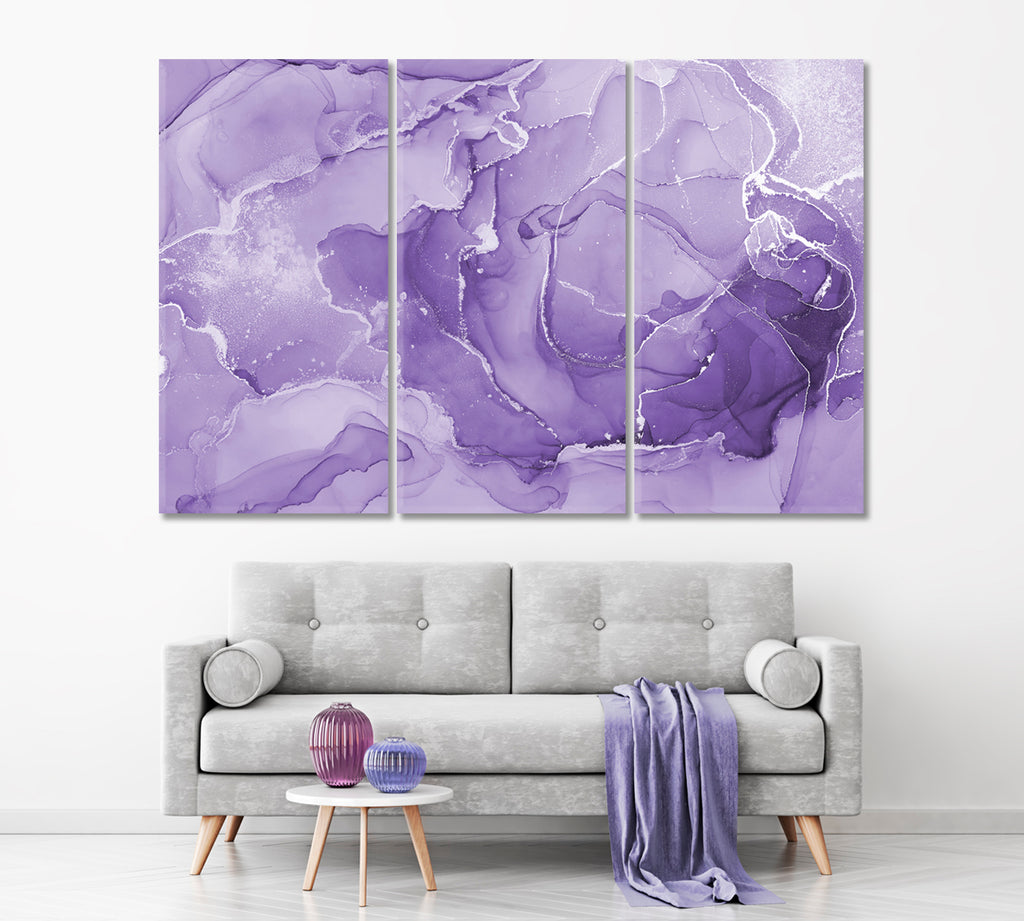 Marbled Purple Abstract Pattern