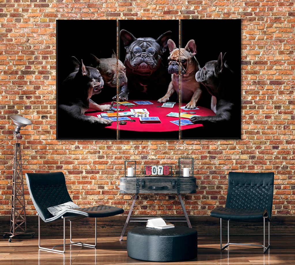 French Bulldogs Playing Cards