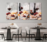 Set of 3 Red Wine and Cheese