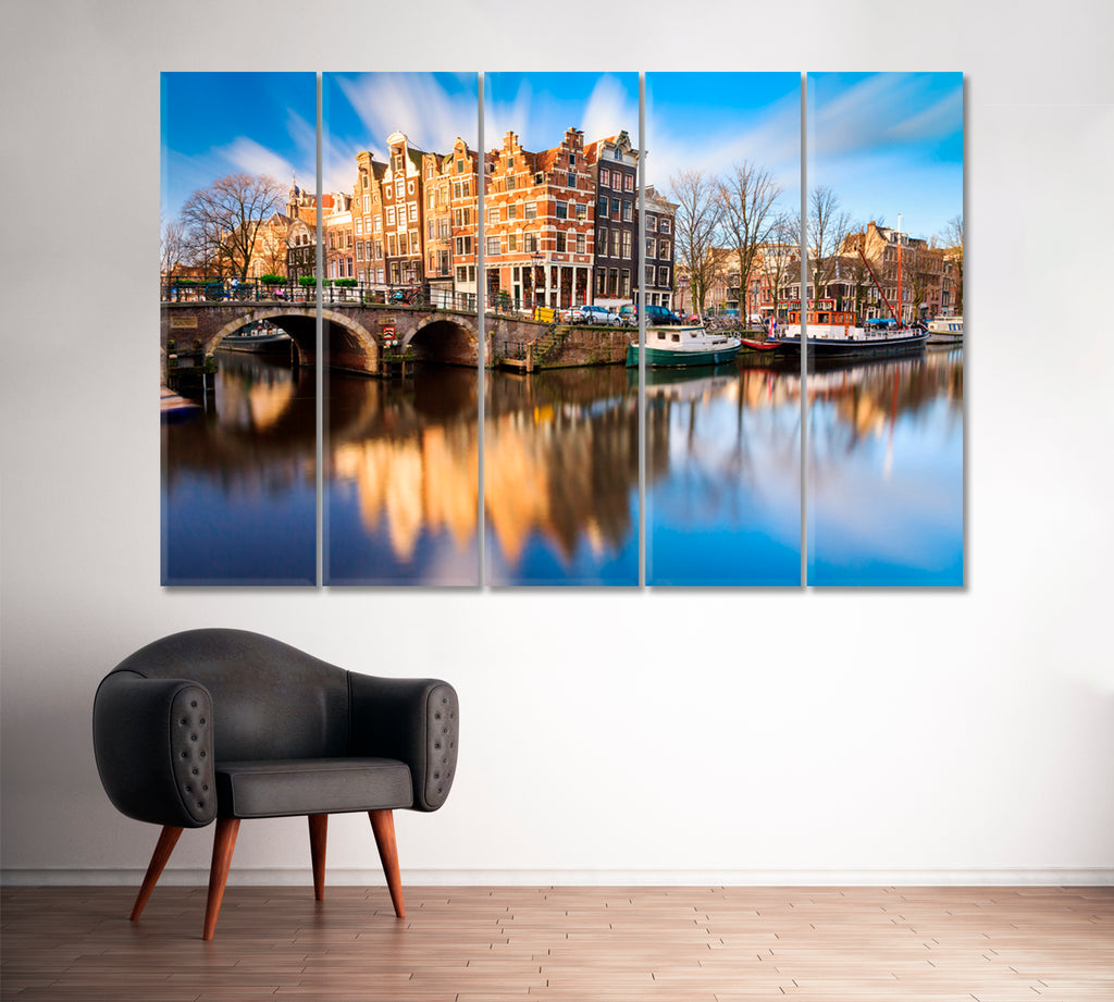 Prinsengracht and Brouwersgracht Canals Amsterdam Netherlands