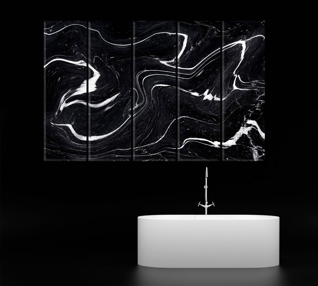 Black Marble Acrylic Waves