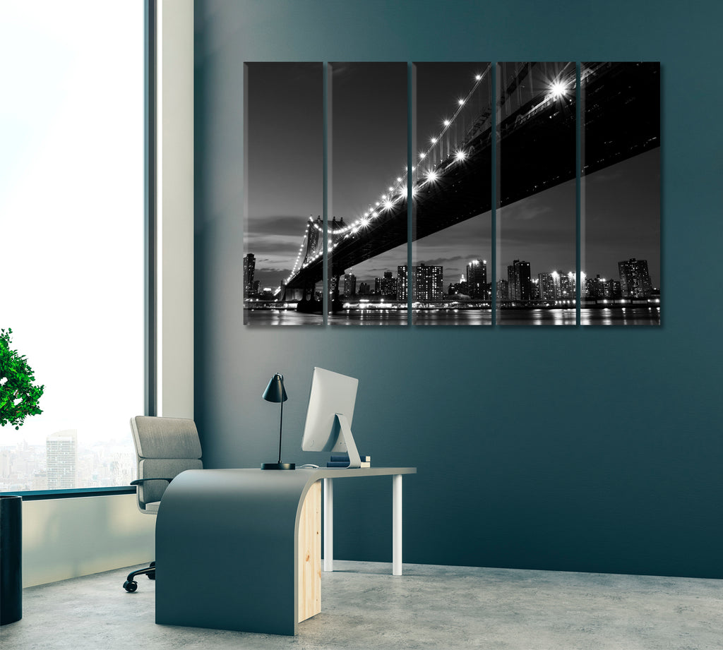 New York City Skyline with Manhattan Bridge