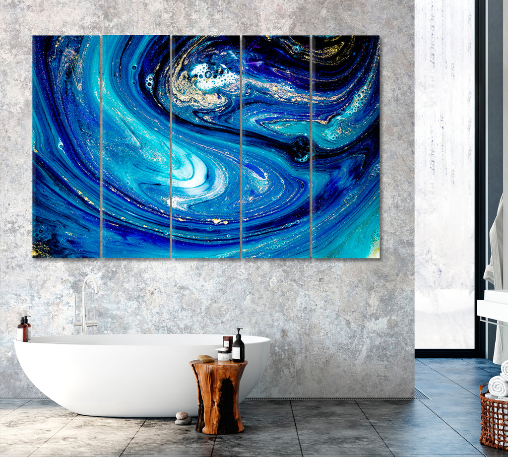 Abstract Blue Swirls of Marble
