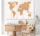 Detailed Vintage World Map