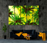 Abstract Coconut Palm Trees