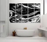 Abstract Black Marble Pattern