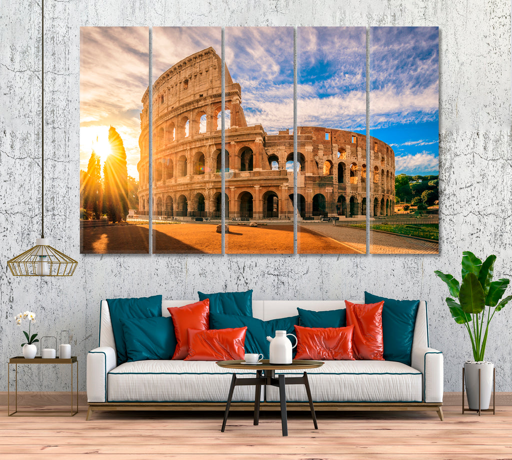 Colosseum at Sunrise Rome Italy