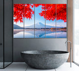 Lake Kawaguchi and Mount Fuji in Autumn