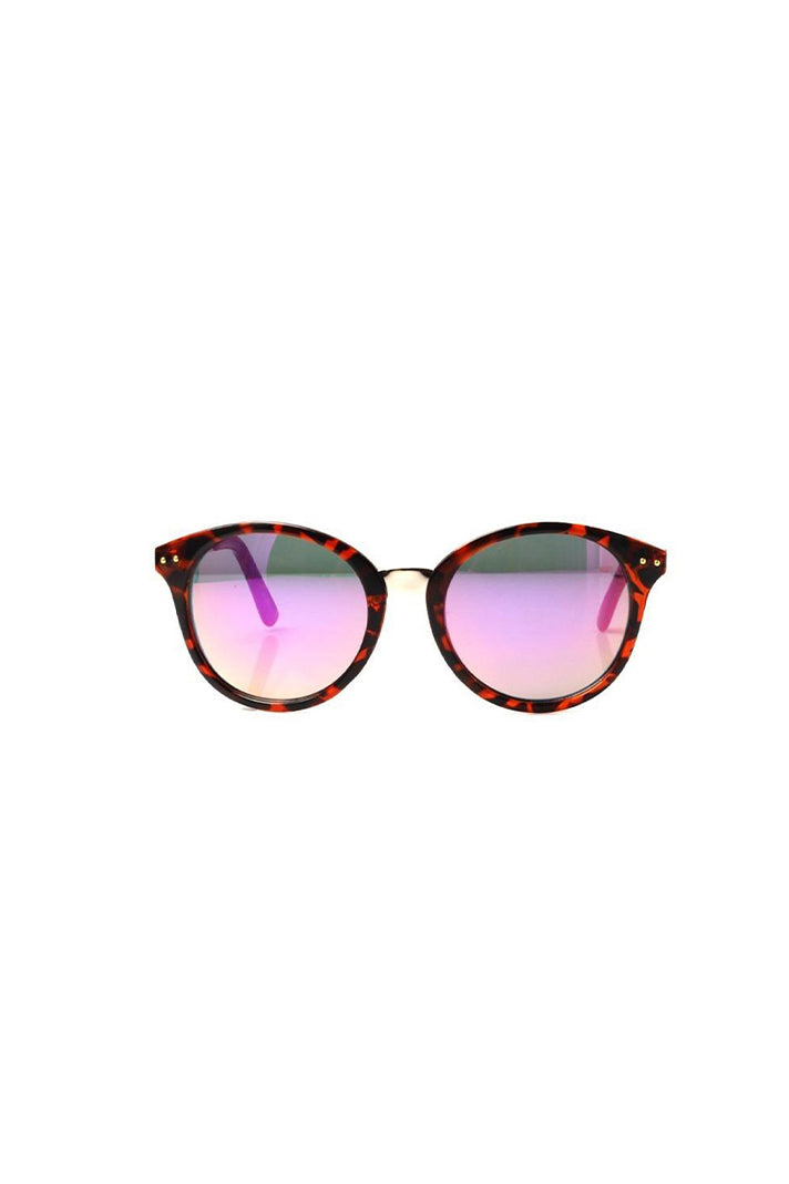 MOLLY PINK LENSE ROUND SUNGLASSES - Frank and Doll
