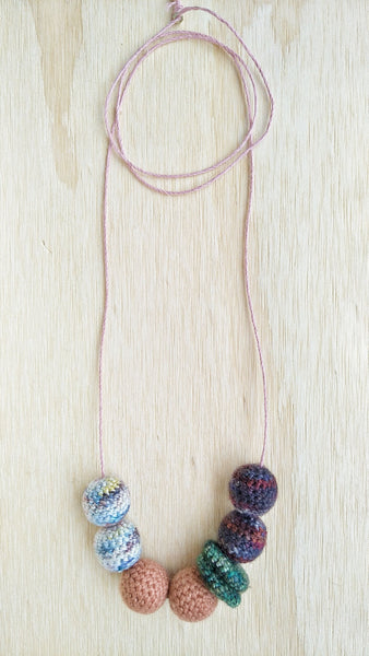 Harriet #2 Crochet beaded necklace
