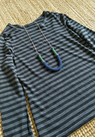 Winnie #3 Wool color block necklace