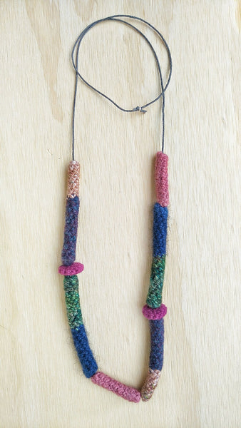 Adeline #1 Long crocheted wool necklace