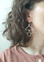 Tully Earrings. Hand formed drop earrings in sterling silver