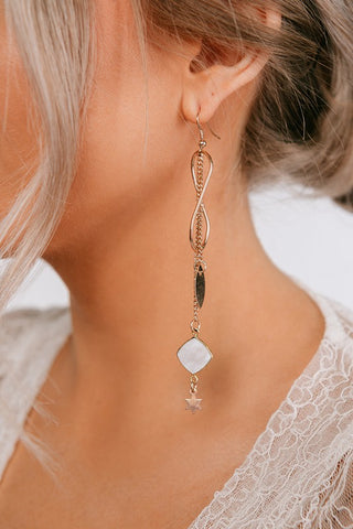 OOOH SHE'S FANCY DANGLE EARRINGS IN ROSE GOLD-EARRINGS-MODE-Couture-Boutique-Womens-Clothing