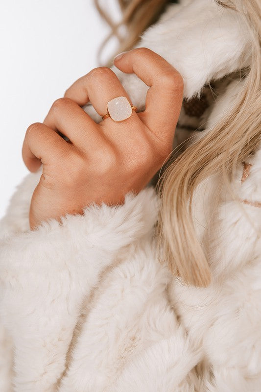I WANNA ROCK RING IN WHITE-RINGS-MODE-Couture-Boutique-Womens-Clothing