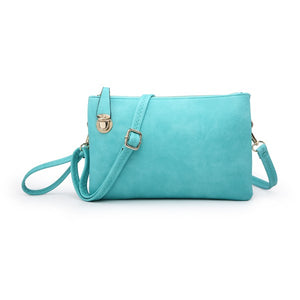 CHAMPAGNE DATE NIGHT CROSSBODY/CLUTCH IN TURQUOISE-PURSES-MODE-Couture-Boutique-Womens-Clothing