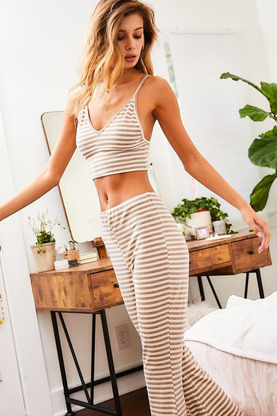 COFFEE & CONFIDENCE LOUNGE SET IN OFF WHITE-Lounge Set-MODE-Couture-Boutique-Womens-Clothing