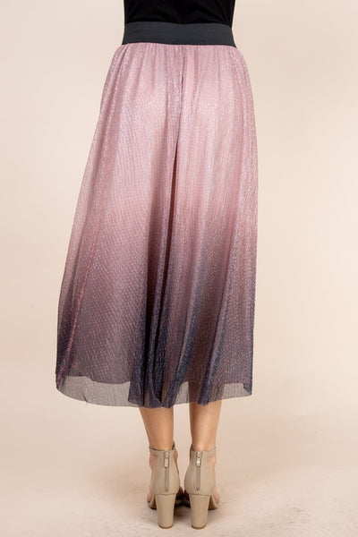 GOOD VIBRATIONS OMBRE MIDI SKIRT IN MAUVE-SKIRTS-MODE-Couture-Boutique-Womens-Clothing