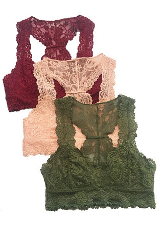 MONA LACE RACERBACK BRALETTE IN WINE-Bralette-MODE-Couture-Boutique-Womens-Clothing