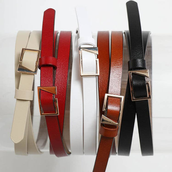 ASYMMETRICAL BUCKLE CINCH WAIST BELT IN CAMEL-BELTS-MODE-Couture-Boutique-Womens-Clothing