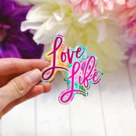 LOVE LIFE VINYL STICKER DECAL-Sticker/Decal-MODE-Couture-Boutique-Womens-Clothing