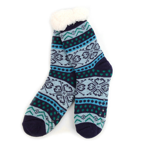FEELING FESTIVE SHERPA SLIPPER SOCKS-SOCKS-MODE-Couture-Boutique-Womens-Clothing