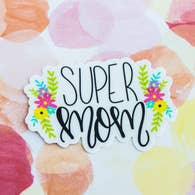 SUPER MOM VINYL STICKER DECAL-Sticker/Decal-MODE-Couture-Boutique-Womens-Clothing
