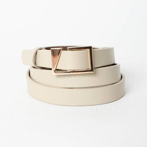 ASYMMETRICAL BUCKLE CINCH WAIST BELT IN KHAKI-BELTS-MODE-Couture-Boutique-Womens-Clothing