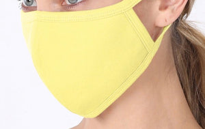 SOLID ADULT FACE MASK IN YELLOW-FACE MASKS-MODE-Couture-Boutique-Womens-Clothing