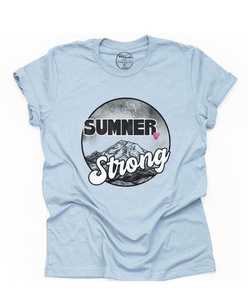 SUMNER STRONG UNISEX TEE WITH HEART IN LIGHT BLUE (PRE-ORDER)-FUNDRAISER TEES-MODE-Couture-Boutique-Womens-Clothing