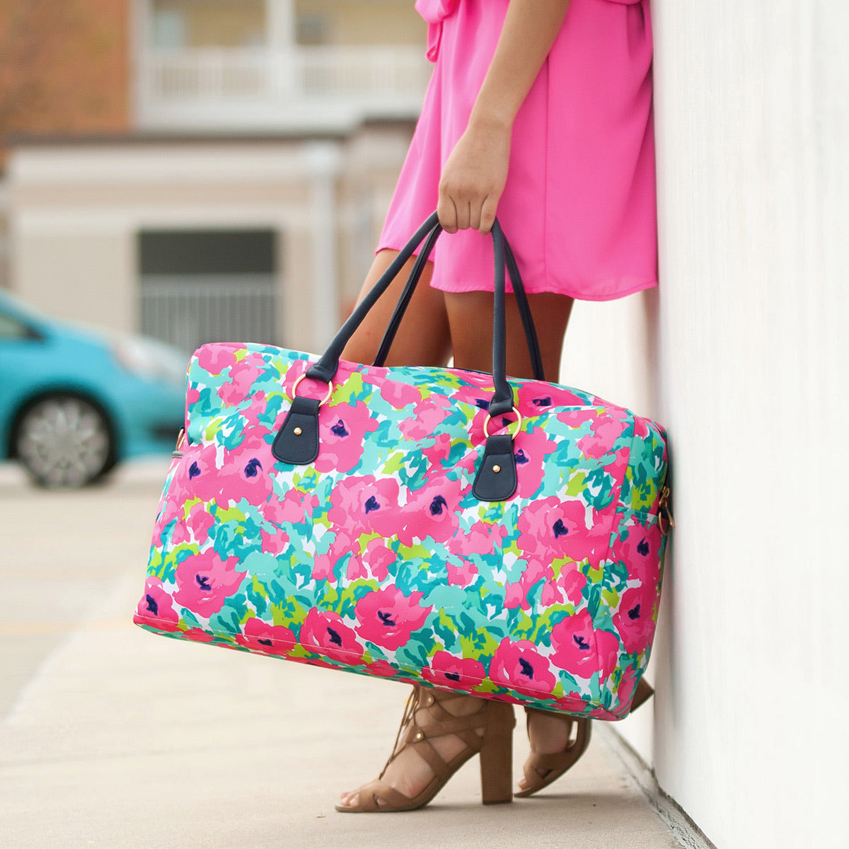 DOWNTOWN BOUND TRAVEL BAG IN FLORAL-BAG-MODE-Couture-Boutique-Womens-Clothing