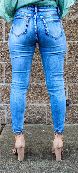 HAMMER HIGH RISE ANKLE SKINNY JEANS IN LIGHT VINTAGE WASH-Jeans-MODE-Couture-Boutique-Womens-Clothing