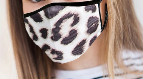 LEOPARD PRINT ANTIMICROBIAL KIDS FACE MASK-FACE MASKS-MODE-Couture-Boutique-Womens-Clothing