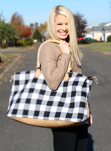 HOLLY WEEKENDER IN WHITE BUFFALO CHECK-Accessories-MODE-Couture-Boutique-Womens-Clothing
