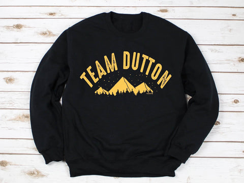 TEAM DUTTON UNISEX CREWNECK SWEATSHIRT IN BLACK-Sweatshirt-MODE-Couture-Boutique-Womens-Clothing
